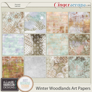 Winter Woodlands Artsy Papers by Aimee Harrison and JB Studio