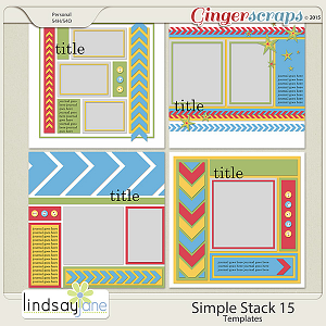 Simple Stack 15 Templates by Lindsay Jane