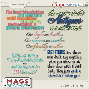 Lifelong Friends WORD ART