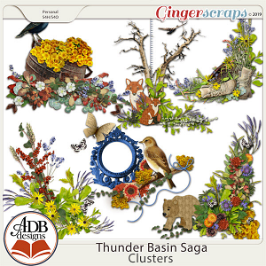 Thunder Basin Saga Clusters by ADB Designs