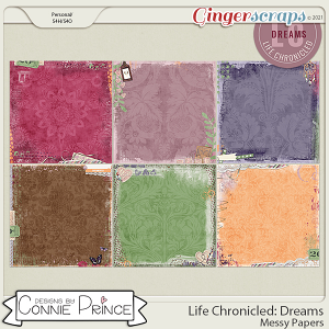 Life Chronicled: Dreams - Messy Papers by Connie Prince