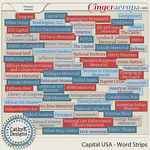Capital USA - Word Strips
