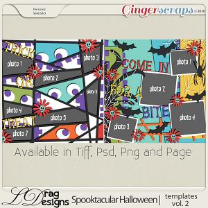 Spooktacular Halloween: Templates vol.2 by LDragDesigns