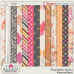 Pumpkin Spice - Patterned Papers