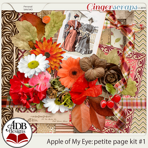 Apple of My Eye Petite Page Kit #1 by ADB Designs