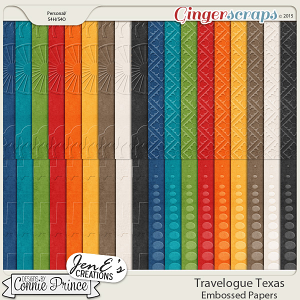 Travelogue Texas - Embossed Papers Pack