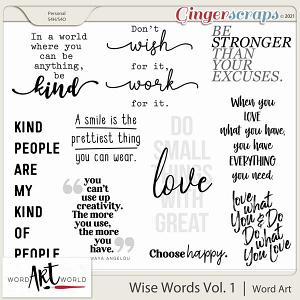Wise Words Vol. 1 Word Art