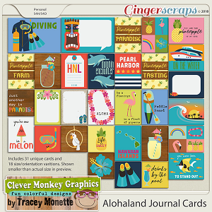 Alohaland Journal Cards by Clever Monkey Graphics