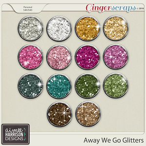 Away We Go Glitters by Aimee Harrison