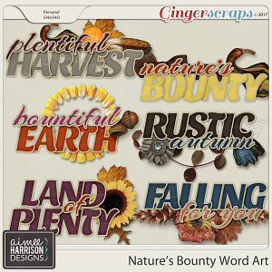 Nature's Bounty Word Art