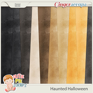 Haunted Halloween Solid Papers