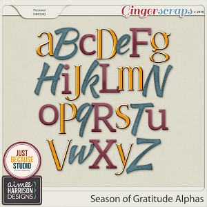 Season of Gratitude Alpha Sets by Aimee Harrison and JB Studio