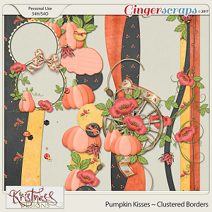 Pumpkin Kisses Clustered Borders