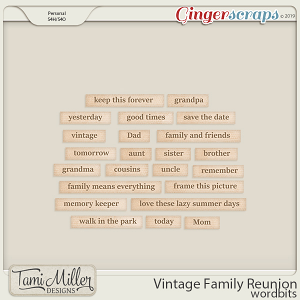 Vintage Family Reunion Wordbits by Tami Miller Designs