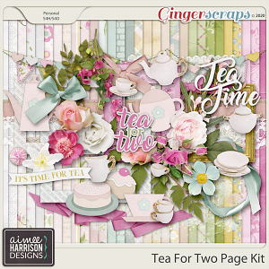 Tea for Two Page Kit by Aimee Harrison