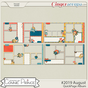 #2019 August - Quick Pages by Connie Prince