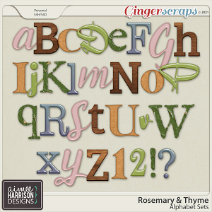 Rosemary and Thyme Alpha Sets by Aimee Harrison