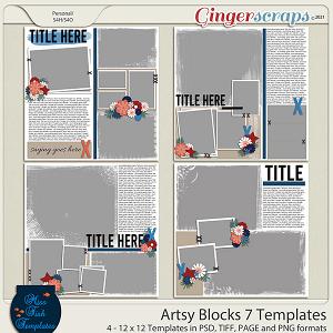 Artsy Blocks 7 Templates by Miss Fish