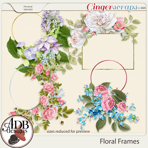 Heritage Resource - Floral Frames by ADB Designs