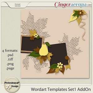Wordart Templates Set1 AddOn