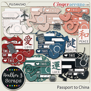 Passport to China ACCENTS by Heather Z Scraps