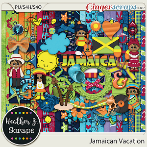 Jamaican Vacation KIT by Heather Z Scraps