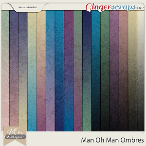 Man Oh Man Ombre Papers by JoCee Designs