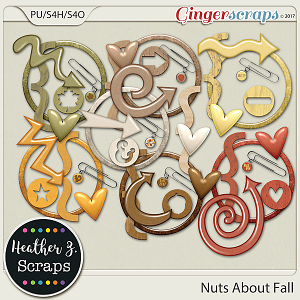 Nuts About Fall ACCENTS by Heather Z Scraps