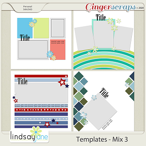 Templates - Mix 3 by Lindsay Jane