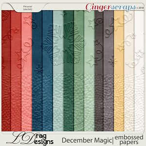December Magic: Embossed Papers by LDragDesigns