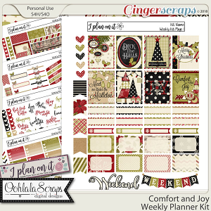 Comfort and Joy Planner Stickers Weekly Kit
