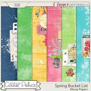 Spring Bucket List - Messy Papers by Connie Prince