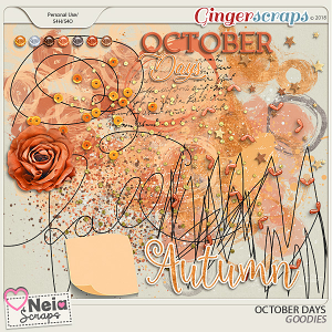 October Days Goodies - By Neia Scraps