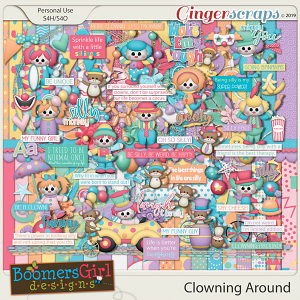 Clowning Around by BoomersGirl Designs