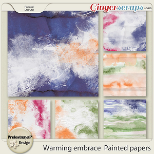 Warming embrace Painted papers