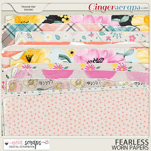 Fearless - Worn Papers - by Neia Scraps