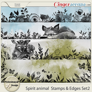 Spirit animal Stamps & Edges Set2