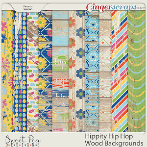 Hippity Hip Hop Wood Backgrounds