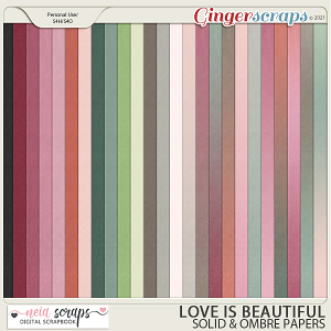 Love is Beautiful - Solid & Ombre Papers - by Neia Scraps