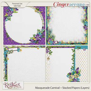 Masquerade Carnival Stacked Papers (Layers)