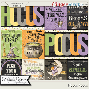 Hocus Pocus Pocket Scrap Cards