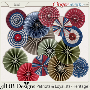 Patriots And Loyalists Rosettes by ADB Designs