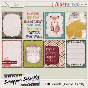 Fall Friends Journal Cards