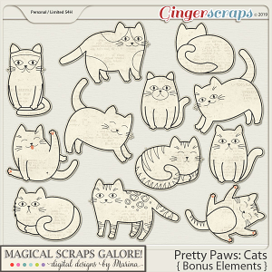 Pretty Paws: Cats (bonus elements)