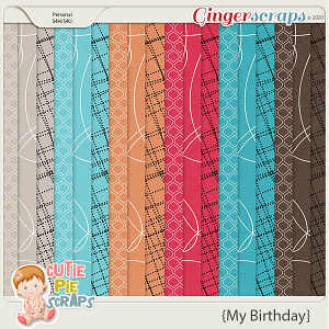My Birthday Pattern Papers