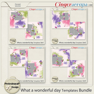 What a Wonderful day Templates Bundle