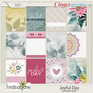 Joyful Day Journal Cards by Lindsay Jane
