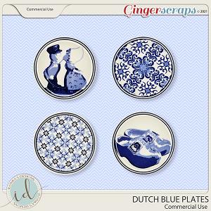 CU Duth Blue Plates by Ilonka's Designs