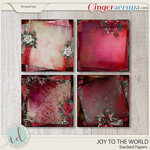Joy To The World Stacked Papers by Ilonka's Designs