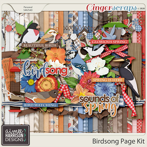 Birdsong Page Kit by Aimee Harrison